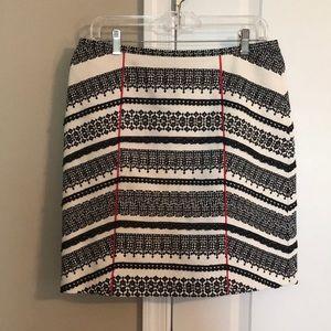 Sale⏱❤️Tabitha Skirt Black/Cream w Red Stripe